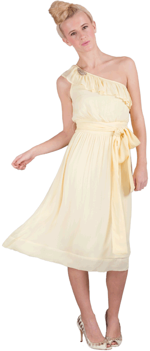 Nicole dress  (broach not included)  Fabric: 100% viscose georgette  U.K sizes:8-16  Colours: lemon pie, soft coral, cucumber green, palma violet.